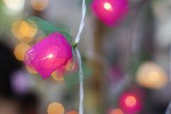 De decoratie van de kaars gloeilamp Stock Foto's