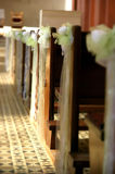 de decoratie van de kerkbank Stock Foto's