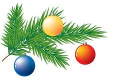 De decoratie van de kerstboom. Stock Afbeelding