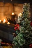 De decoratie van de kerstboom en van Kerstmis Stock Afbeeldingen