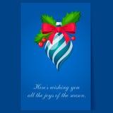 De Decoratie van de kerstboom Heldere vector Royalty-vrije Stock Foto's
