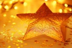 De decoratie van de Kerstboom van de ster Stock Foto's