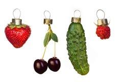 De decoratie van de kerstboom van vruchten Stock Fotografie