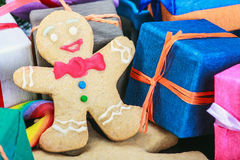 De decoratie van de Kerstmispeperkoek Stock Fotografie