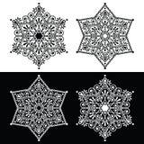 De decoratie van de Kerstmissneeuwvlok - borduurwerkstijl Royalty-vrije Stock Afbeelding