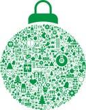 De decoratie van de Kerstmissnuisterij Stock Foto's