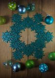 De decoratie van de Kerstmisster Stock Foto