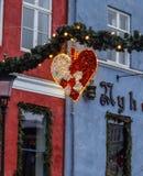 De decoratie van de Kerstmisstraat Stock Foto's