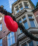 De decoratie van de Kerstmisstraat Stock Afbeelding