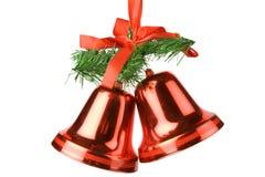 De Decoratie van de Klokken van Kerstmis Stock Foto