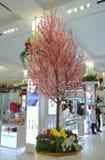 De decoratie van de Sakuraboom tijdens de Jaarlijkse Bloem van beroemde Macy toont in Herald Square van Macy Stock Afbeelding