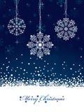 De decoratie van de sneeuwvlok Stock Afbeelding