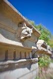 De decoratie van de steen in Aphrodisias Stock Foto's