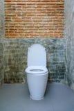 De decoratie van de toiletzetel in badkamersbinnenland Stock Fotografie