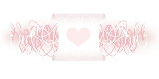 De decoratie van de valentijnskaart Stock Afbeeldingen