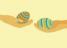De decoratie van eieren Stock Afbeelding