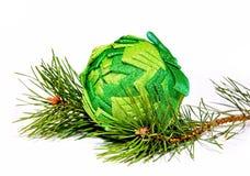 De decoratie van GreenChristmas Stock Afbeelding