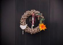 De decoratie van de de herfstdeur Stock Fotografie