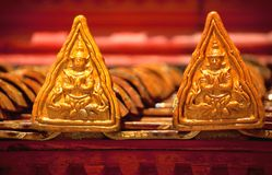 De decoratie van het dak op tempel Stock Foto