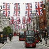 De decoratie van het Diamanten jubileum van de koningin, de Straat van Oxford Stock Foto's