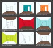 De decoratie van het huis. Kleurenschema en ruimteWaarneming Royalty-vrije Stock Foto's
