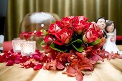 De decoratie van het huwelijk stock foto's