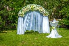 De decoratie van het huwelijk Stock Foto