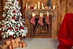 De decoratie van het Kerstmishuis Stock Fotografie