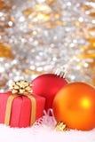 De decoratie van het nieuw-jaar Stock Afbeeldingen