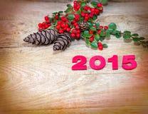 De decoratie van het nieuwe jaar Stock Foto's