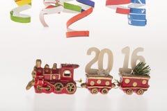 De decoratie van het nieuwe jaar met de ondertitel van 2016 Stock Afbeelding