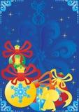 De decoratie van het nieuwjaar royalty-vrije illustratie