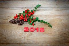 De decoratie 2015 van het nieuwjaar Stock Afbeelding