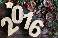 De Decoratie van het nieuwjaar Stock Foto