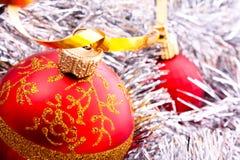 De decoratie van het nieuwjaar en van Kerstmis Royalty-vrije Stock Afbeeldingen