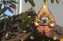 de decoratie van het tempeldak stock afbeeldingen