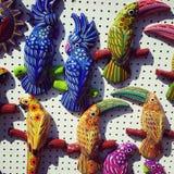 de decoratie van het vogelshuis Stock Foto's
