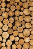De decoratie van houten logboeken decor royalty-vrije stock foto's