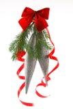 De decoratie van Kerstmis 2008 op wit Royalty-vrije Stock Fotografie