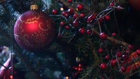 De decoratie van Kerstmis stock videobeelden