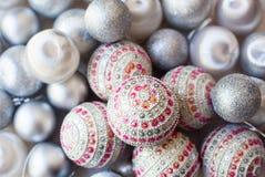 De decoratie van Kerstmis Achtergrond Stock Fotografie