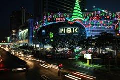 De decoratie van Kerstmis in Bangkok Stock Afbeeldingen