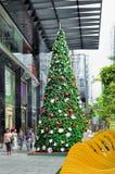 De Decoratie van Kerstmis bij de Weg van de Boomgaard van Singapore Royalty-vrije Stock Afbeelding
