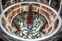 De Decoratie van Kerstmis bij Medio Vallei Stock Fotografie