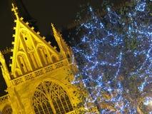 De decoratie van Kerstmis in Brussel (België) Stock Afbeeldingen