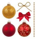 De decoratie van Kerstmis die op wit wordt geïsoleerda Royalty-vrije Stock Afbeeldingen