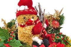 De decoratie van Kerstmis die op witte achtergrond wordt geïsoleerdh Royalty-vrije Stock Foto