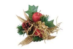 De decoratie van Kerstmis die op witte achtergrond wordt geïsoleerdh Stock Foto