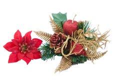 De decoratie van Kerstmis die op witte achtergrond wordt geïsoleerdh Royalty-vrije Stock Afbeelding