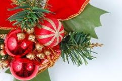De decoratie van Kerstmis die op witte backgro wordt geïsoleerdn Royalty-vrije Stock Fotografie